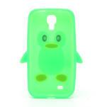Silikonový Tučňák pouzdro pro Samsung Galaxy S4 i9500- zelený - 3/6