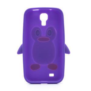 Silikonový Tučňák pouzdro pro Samsung Galaxy S4 i9500- fialový - 3