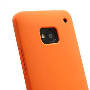 Silikonové pouzdro pro HTC one M7- oranžové - 3
