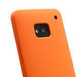 Silikonové pouzdro pro HTC one M7- oranžové - 3/3