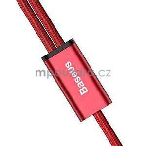 BSX nabíjecí a propojovací kabel na USB Type-C a micro USB - červený - 3