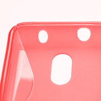 Gelové S-line pouzdro na Nokia Lumia 620- červené - 3/5