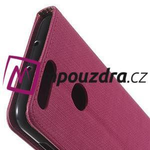 Clothy peněženkové pouzdro na mobil Honor 8 - rose - 3