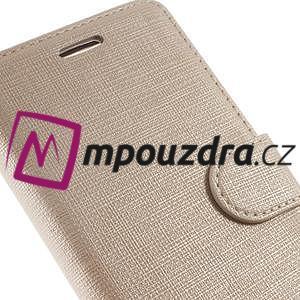 Clothy peněženkové pouzdro na mobil Honor 8 - zlaté - 3