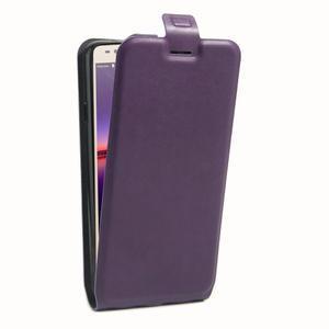 Flipové PU kožené pouzdro na Huawei Y3 II - fialové - 3