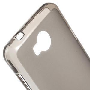 Matný gelový obal na Huawei Y3 II - šedý - 3