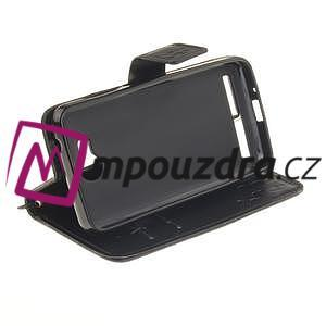 Dandelion PU kožené pouzdro na mobil Huawei Y3 II - černé - 3