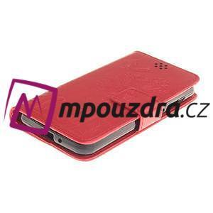 Dandelion PU kožené pouzdro na mobil Huawei Y3 II - červené - 3