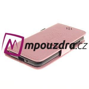 Dandelion PU kožené pouzdro na mobil Huawei Y3 II - růžové - 3