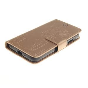Dandelion PU kožené pouzdro na mobil Huawei Y3 II - zlaté - 3