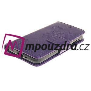 Dandelion PU kožené pouzdro na mobil Huawei Y3 II - fialové - 3