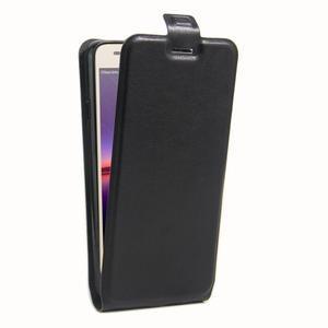 Flipové PU kožené pouzdro na Huawei Y3 II - černé - 3