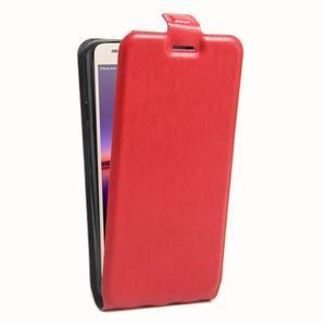 Flipové PU kožené pouzdro na Huawei Y3 II - červené - 3