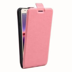 Flipové PU kožené pouzdro na Huawei Y3 II - růžové - 3