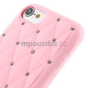 Brite silikonový obal s kamínky iPod Touch 6 / Touch 5 - růžový - 3