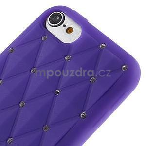 Brite silikonový obal s kamínky iPod Touch 6 / Touch 5 - fialový - 3