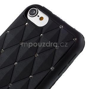 Brite silikonový obal s kamínky iPod Touch 6 / Touch 5 - černý - 3