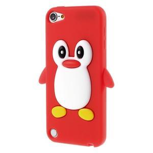 Penguin silikonový obal na iPod Touch 6 / iPod Touch 5 - červený - 3