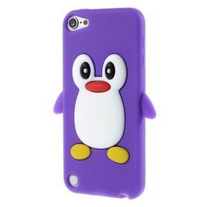 Penguin silikonový obal na iPod Touch 6 / iPod Touch 5 - fialový - 3