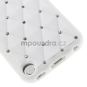 Brite silikonový obal s kamínky iPod Touch 6 / Touch 5 - bílý - 3