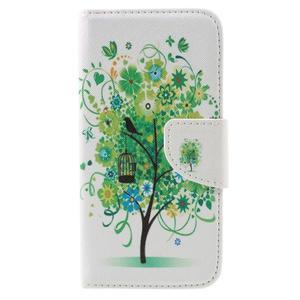 Emotive PU kožené pouzdro na LG K8 - zelený strom - 3