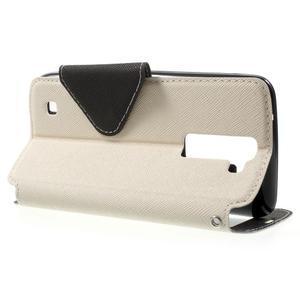 Diary PU kožené pouzdro s okýnkem na LG K8 - bílé - 3