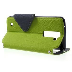 Diary PU kožené pouzdro s okýnkem na LG K8 - zelené - 3