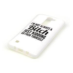 Emotive gelový obal na mobil LG K8 - bitch - 3