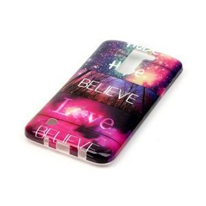 Emotive gelový obal na mobil LG K8 - believe - 3