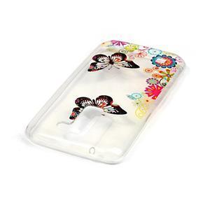 Průhledný gelový obal na telefon LG K8 - motýlek - 3