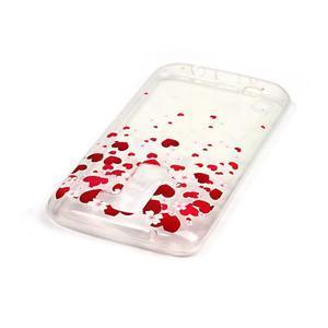 Průhledný gelový obal na telefon LG K8 - srdíčka - 3