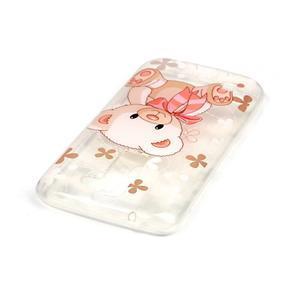 Průhledný gelový obal na telefon LG K8 - medvídek - 3