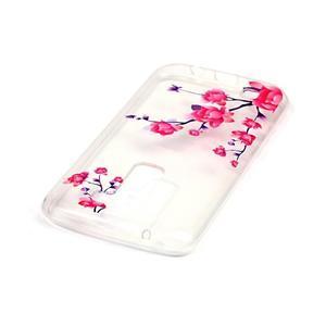Průhledný gelový obal na telefon LG K8 - kvetoucí větvička - 3