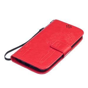 Dandelion PU kožené pouzdro na mobil LG K8 - červené - 3