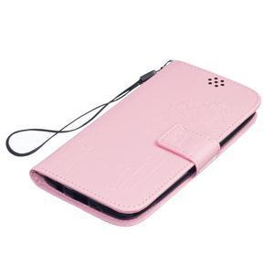 Dandelion PU kožené pouzdro na mobil LG K8 - růžové - 3
