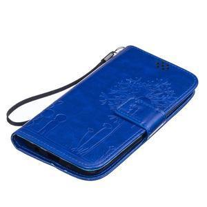 Dandelion PU kožené pouzdro na mobil LG K8 - modré - 3