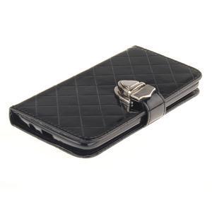 Luxusní PU kožené pouzdro s přezkou na LG K8 - černé - 3