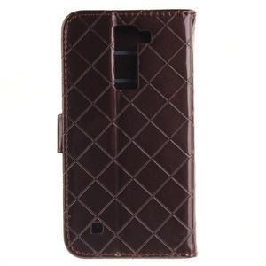 Luxusní PU kožené pouzdro s přezkou na LG K8 - hnědé - 3