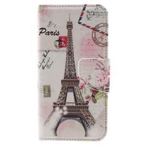 Emotive PU kožené pouzdro na LG K8 - Eiffelova věž - 3