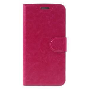 Horse PU kožené pouzdro na mobil LG K8 - rose - 3