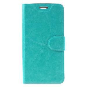 Horse PU kožené pouzdro na mobil LG K8 - zelenomodré - 3