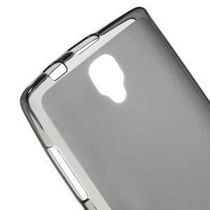 Matný gelový kryt na Lenovo A2010 - šedý - 3
