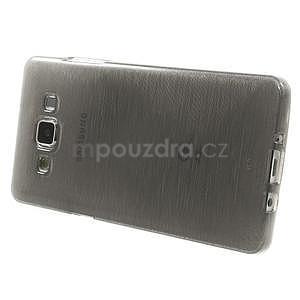 Broušený gelový obal Samsung Galaxy A5 - šedý - 3