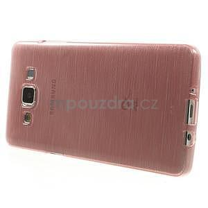 Broušený gelový obal Samsung Galaxy A5 - růžový - 3