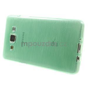 Broušený gelový obal Samsung Galaxy A5 - cyan - 3