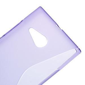 Gelový s-line obal na Nokia Lumia 730 a Lumia 735 - fialový - 3