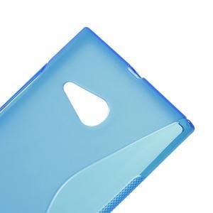 Gelový s-line obal na Nokia Lumia 730 a Lumia 735 - modrý - 3