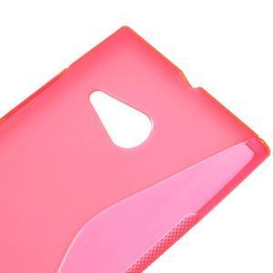 Gelový s-line obal na Nokia Lumia 730 a Lumia 735 - růžový - 3