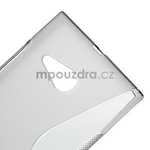 Gelový s-line obal na Nokia Lumia 730 a Lumia 735 - šedý - 3