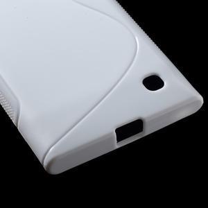Gelový s-line obal na Nokia Lumia 730 a Lumia 735 - bílý - 3